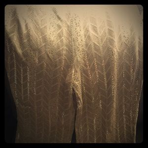 Beautiful Gold Sequence Pants by St. John